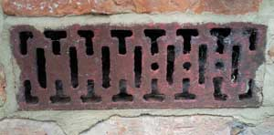 period cast iron air brick
